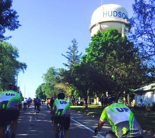 The group passes through the town of Hudson on the route to Hiawatha.